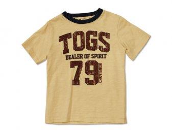 CHEVIGNON Kids lässiges T-Shirt in beige mit Print