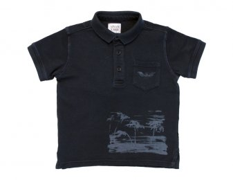 ARMANI JUNIOR Poloshirt in wash look