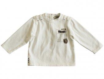 ARMANI BABY Langarmshirt mit Applikationen