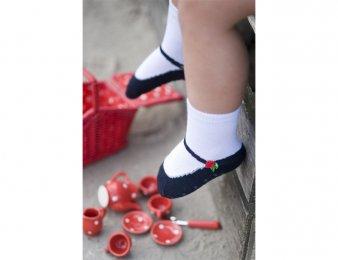 BONNIE DOON Baby Socken Ballerina Weiß-Blau