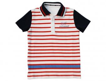 GF FERRE gestreiftes Sommer Poloshirt