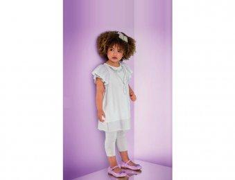 ARMANI JUNIOR leichtes Sommerkleid in weiß für Mädchen
