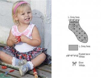 BONNIE DOON Broderie Socken Grau