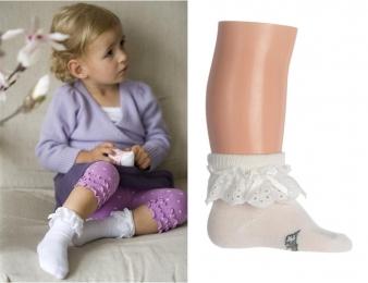 BONNIE DOON Baby Lace Cuff Socken weiß