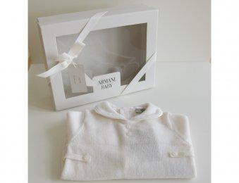 ARMANI BABY Kaschmir Strampler in Geschenk-Box Weiß