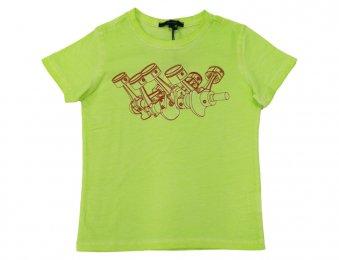 ASTON MARTIN Sommer T-Shirt mit Print Gelb