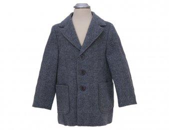 IL GUFO Jungen Tweed Mantel Grau