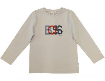 HUGO BOSS Kids Langarmshirt mit Print Blau