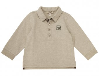 ARMANI BABY Poloshirt mit Logo Grau
