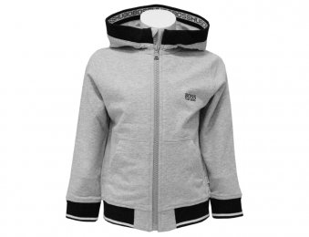 HUGO BOSS Kids Kapuzen Sweatjacke Grau