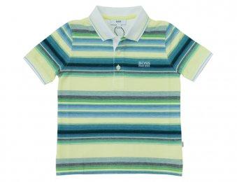 HUGO BOSS Kids gestreiftes Sommer Poloshirt