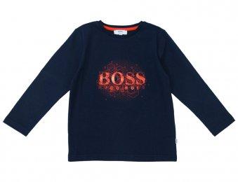 HUGO BOSS Kids Langarmshirt mit Logo Blau