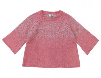IL GUFO Wolle Pullover in Rosa-Grau