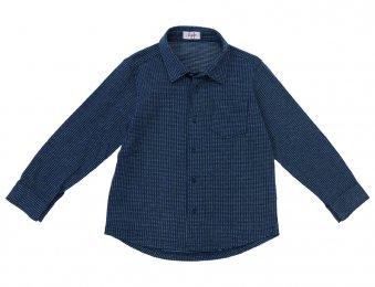 IL GUFO Jungen Jersey Hemd Blau