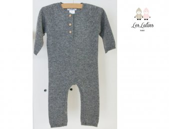 LES LUTINS Baby Cashmere Overall in Grau