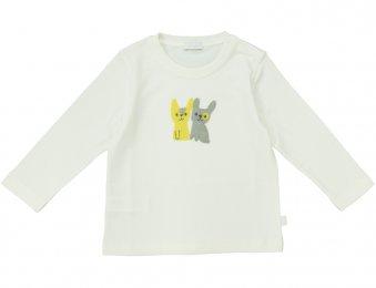 IL GUFO Langarmshirt mit Hasen-Applikation in Weiß