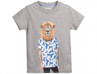 ARMANI JUNIOR T-Shirt mit Print in Grau