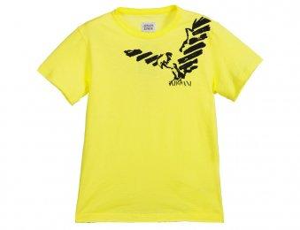 ARMANI JUNIOR Sommer T-Shirt in Gelb