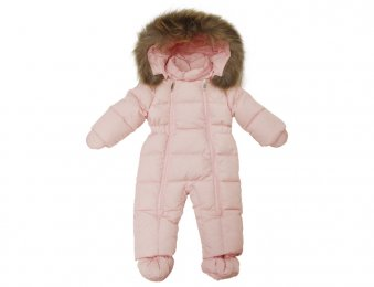 IL GUFO Baby Girls Pink Down Snow Suit