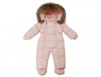 IL GUFO Baby Daunen Overall Schneeanzug in Rosa