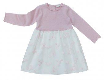 IL GUFO Kleid mit Tüllrock in Rosa