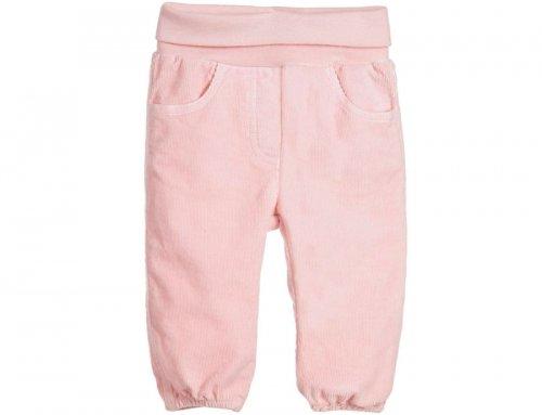 IL GUFO Cordhose Hose mit Bündchen am Bein in Rosa