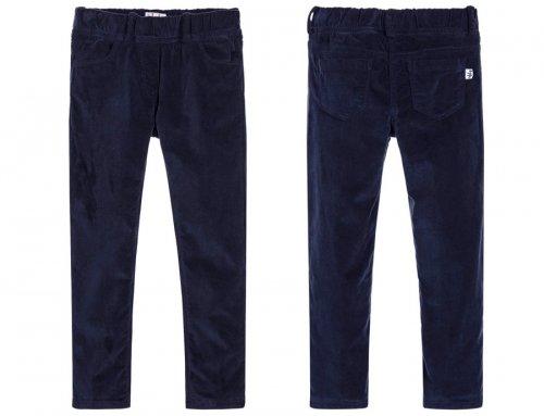 IL GUFO Samthose Hose für Mädchen in Blau