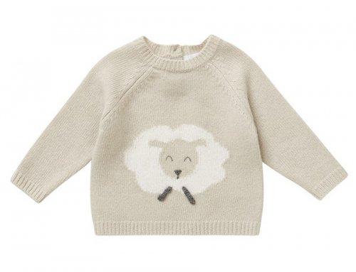 IL GUFO Winter Pullover mit Schaf in Beige