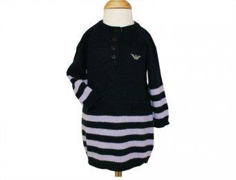 ARMANI BABY gestreiftes Strickkleid für Mädchen