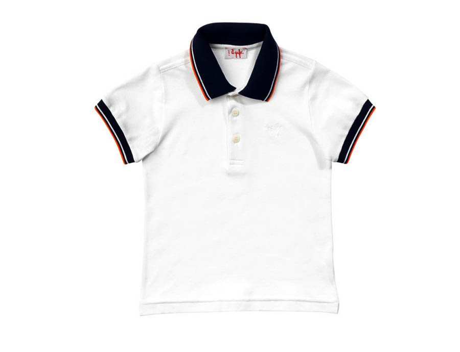 cheap for discount b235c 90a82 IL GUFO Sommer Poloshirt Weiß-Orange