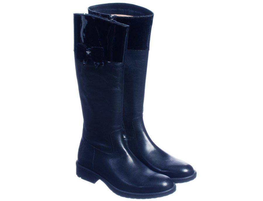1b6649e6dedc ARMANI JUNIOR Leder Stiefel für Mädchen Blau