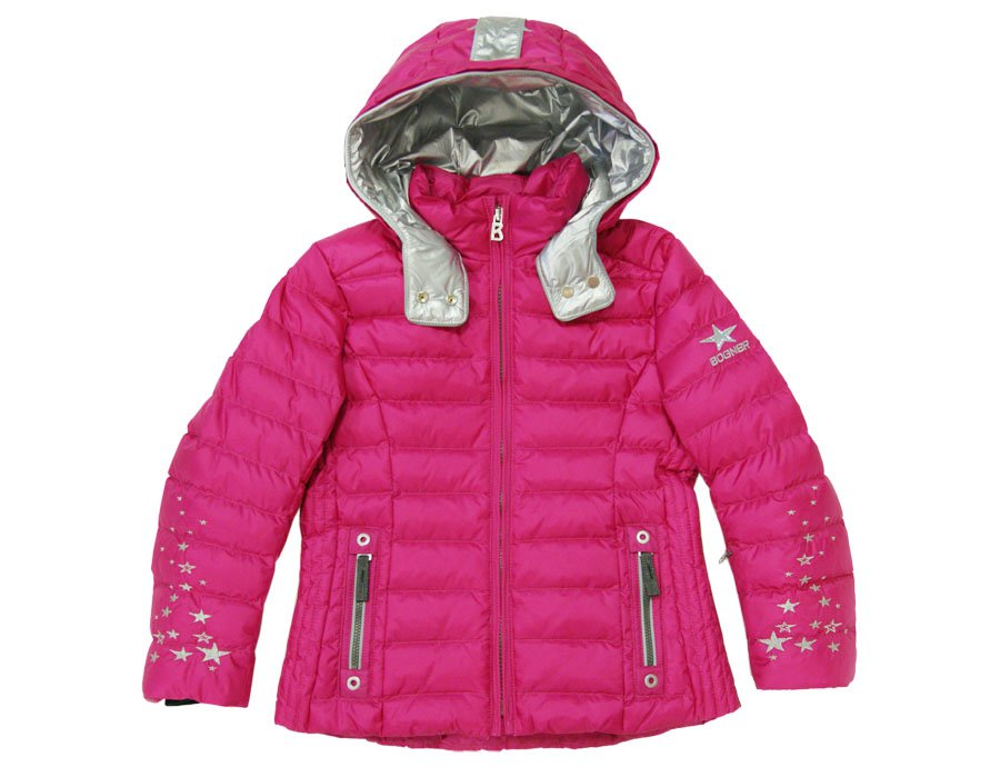 21593e2f0f BOGNER KIDS Girls Pink Functional Down Ski Jacket
