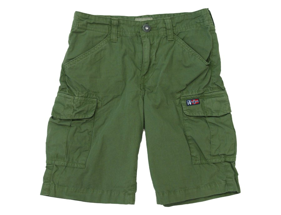 10c3c7fffa9 NAPAPIJRI KIDS Boys Green Cotton Summer Shorts