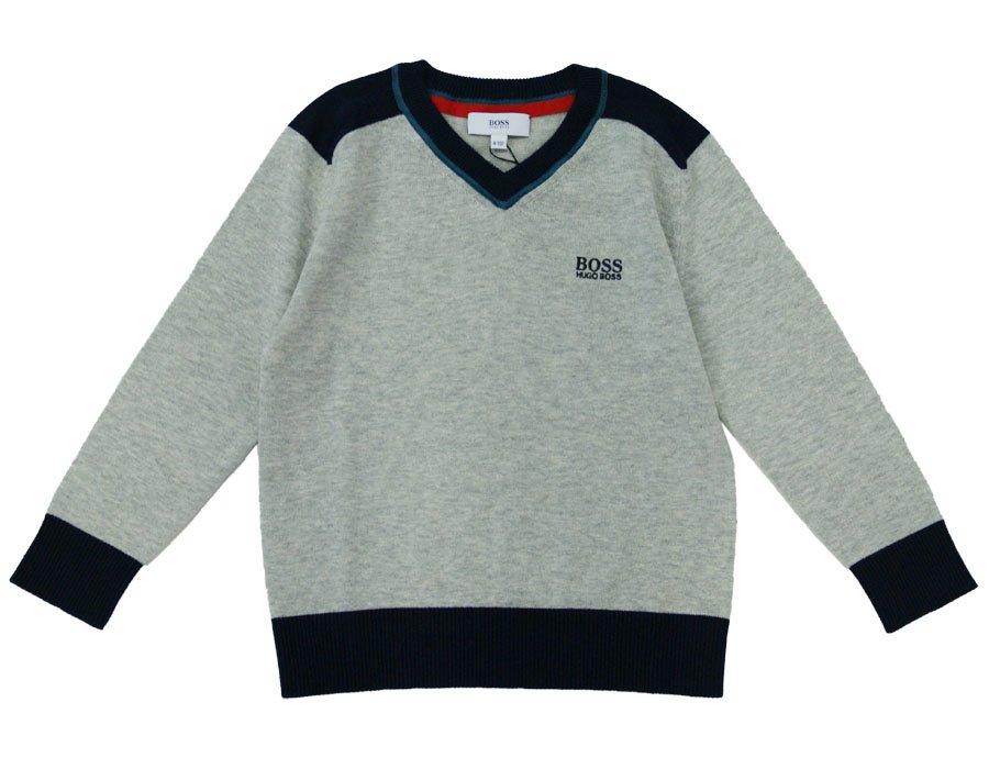 7c0b62e2c99 HUGO BOSS Boys Grey Cotton Sweater | Winter 2016