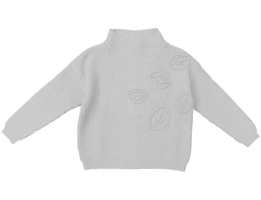 fa2fa06ee IL GUFO Girls Navy Blue Cashmere Sweater