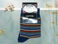 BONNIE DOON Socken Bright Stripes jeansblau
