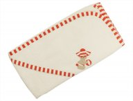IL GUFO bath towel for babies white-pink