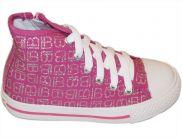 LAURA BIAGIOTTI sportliche Schnürschuhe pink-silber