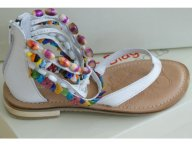LAURA BIAGIOTTI traumhafte Leder Sandalen Schuhe weiß
