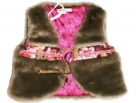 KENZO KIDS vest gilet for girls Beige Fonce