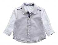 BABY GRAZIELLA Grau & Weiß Hemd für kleine Jungen