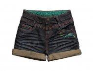 CATIMINI Spirit Jeans Shorts mit Blumenstickerei