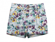KENZO KIDS shorts with floral patterns Imprime