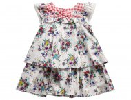 KENZO KIDS summer dress with floral pattern Imprime