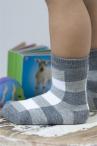 BONNIE DOON Baby Block Socken grau/weiß