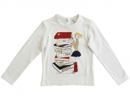 MISS GRANT weißes T-Shirt mit niedlichem Print