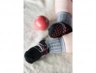 BONNIE DOON Baby Sneaker Socken grau/schwarz