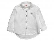 IL GUFO Leinenhemd Weiß