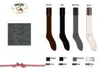 BONNIE DOON Fur Strap Kniestrümpfe grau