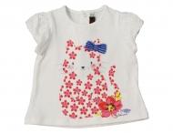 CATIMINI T-Shirt mit Katze Blanc